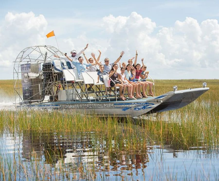Airboat at Sawgrass Recreation Park Everglades Airboat Tour