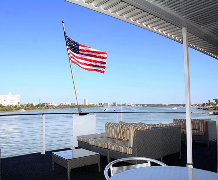 Lounge on the Tampa Sightseeing Cruises aboard the Starlite Majesty of Clearwater Beach, FL