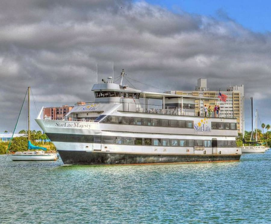 On the Tampa Sightseeing Cruises aboard the Starlite Majesty of Clearwater Beach, FL