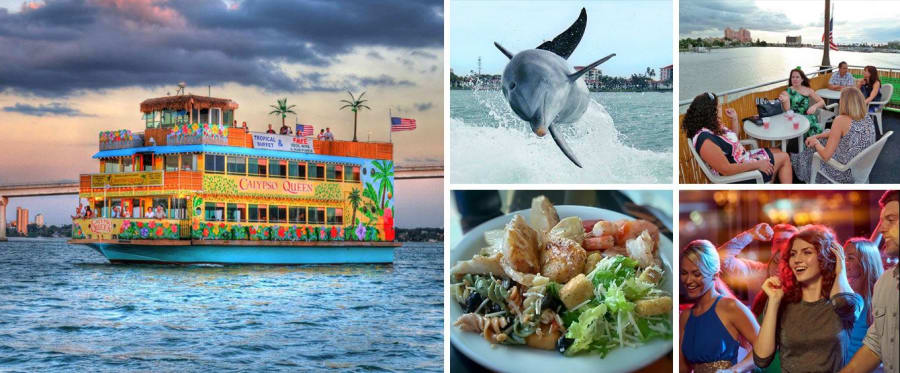 Calypso Queen Sightseeing, Lunch, & Dinner Cruises Clearwater Collage