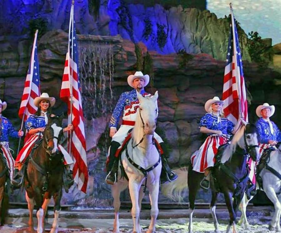 America at Dolly Parton's Stampede Dinner Show Pigeon Forge, TN