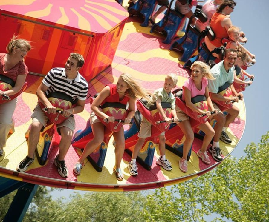 Thrills at Dollywood Theme Park Tennessee