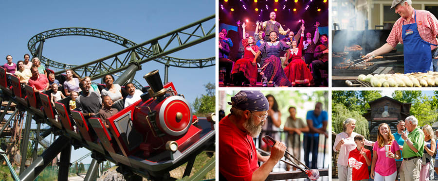 Dollywood Theme Park Tennessee Collage