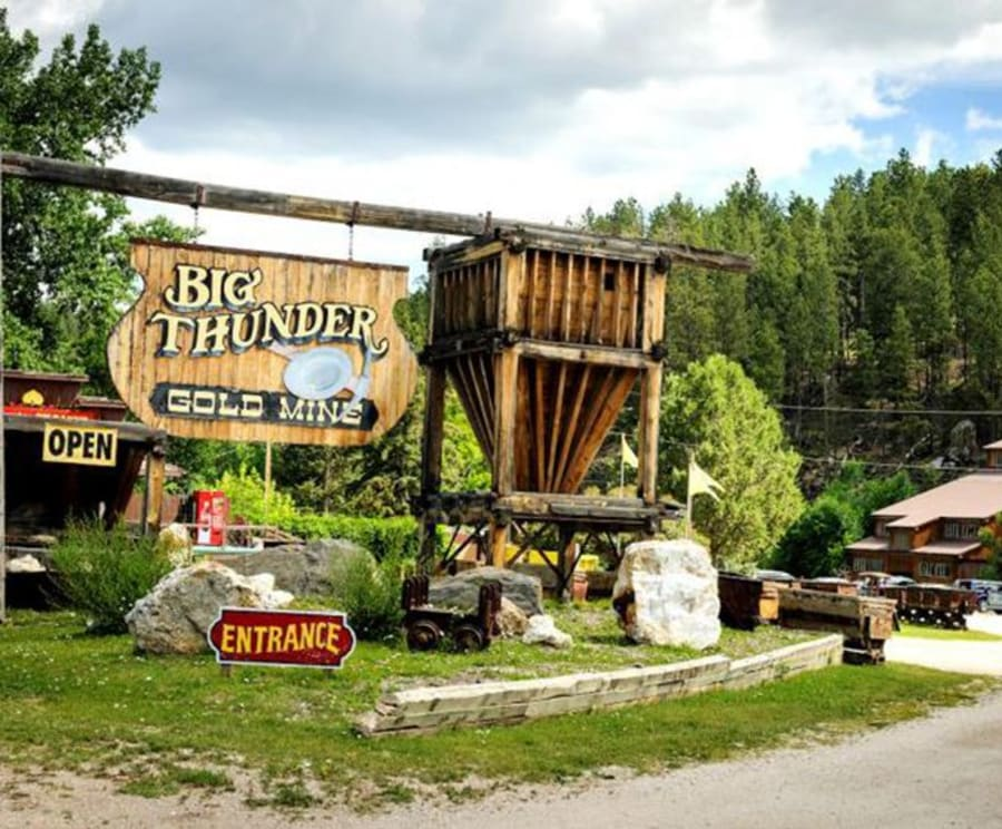 Entrance to Big Thunder Gold Mine - Keystone, SD