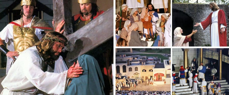 The Great Passion Play Collage