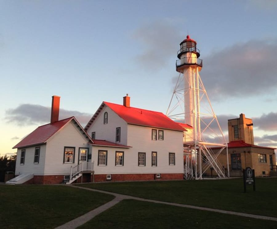 Exterior of the Great Lakes Shipwreck Museum & Whitefish Point Light Station