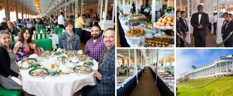 Grand Hotel Luncheon Buffet and Self-Guided Tour Collage
