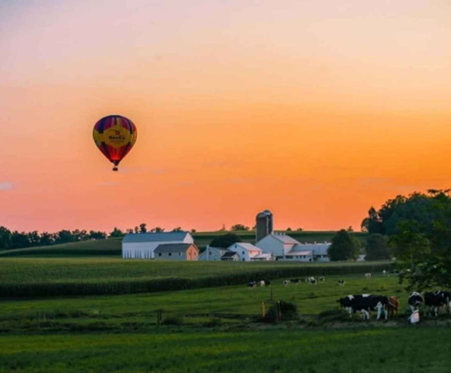 Sunset with Lancaster Hot Air Balloon Ride