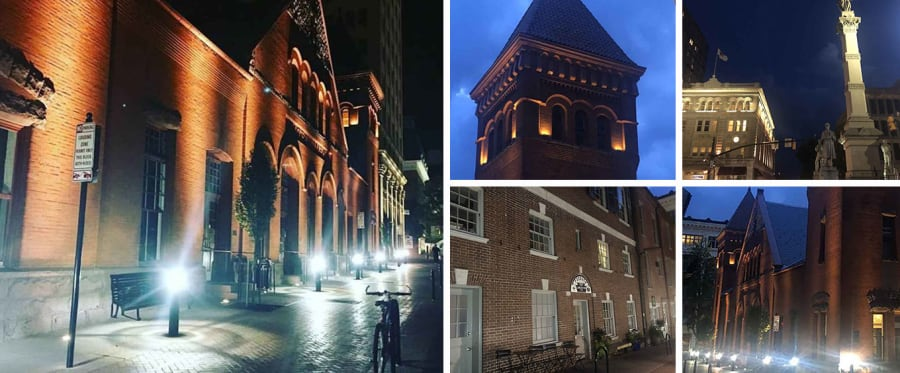 Lancaster Evening Ghost Tour by Candlelight Collage