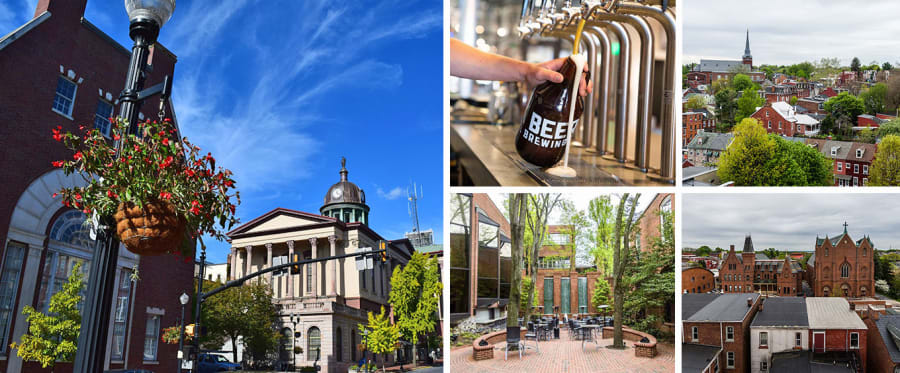 Lancaster Downtown History and Craft Beer Walk Collage