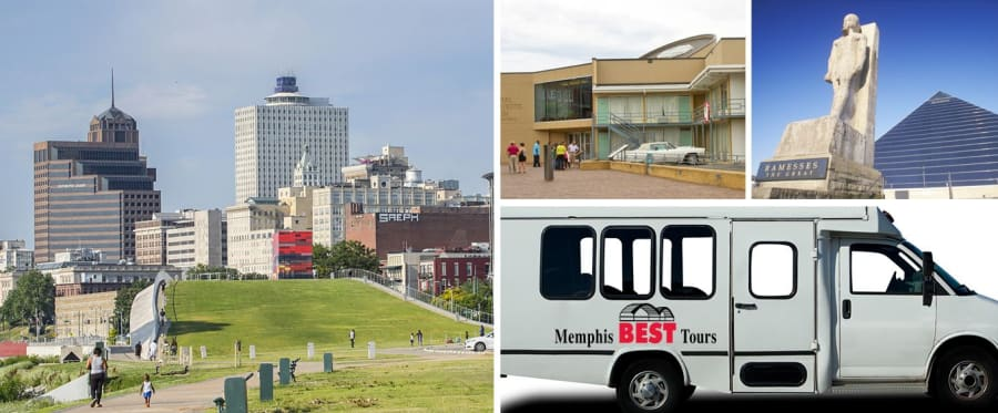 Memphis Guided Bus Tours Collage