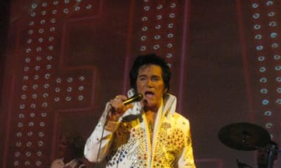 HE IS WONDERFUL  NOT ONLY DO YOU FEEL LIKE ELVIS IS STILL HERE BUT BECAUSE HE HAS SO MUCH KNOWLEDGE OF ELVIS FAMILY LIFE YOU FEEL REALLY LIKE YOUR PART OF IT.  PLUS HE HAS HIS OWN BEAUTIFUL VOICE. WOULD RECOMMEND VERY HIGHLY.XYZBill Sharpe - Coldspring, Tx