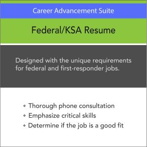 Vertical Media Solutions Career Advancement Suite Federal KSA Resume