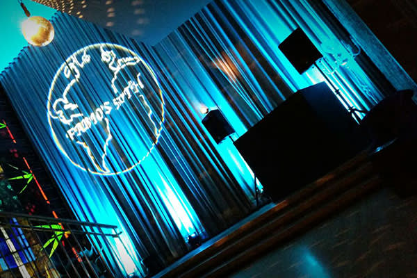 Black PA Uplighters Disco Ball Hire Sanderson