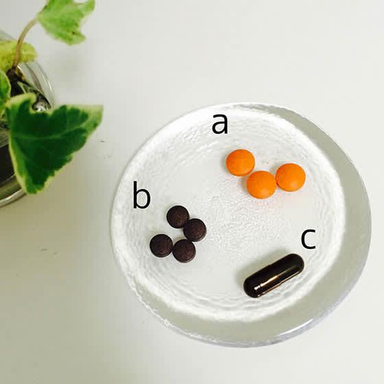 aを4粒、bを6粒、cを1粒という感じにアレンジもします