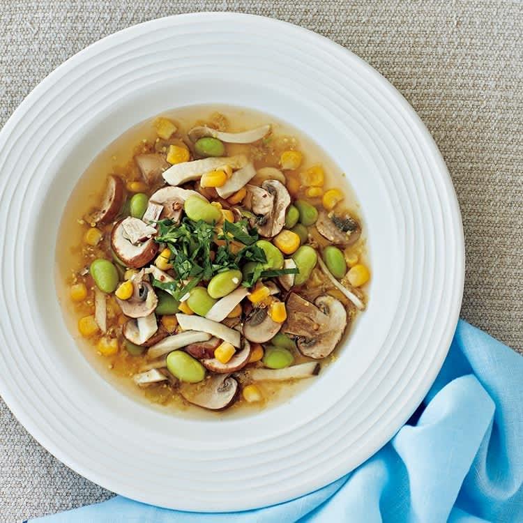 食べ痩せ美容液スープ/枝豆とコーンのむくみスッキリ粒マスタードスープ