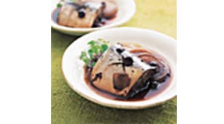 サバのブルーベリー煮