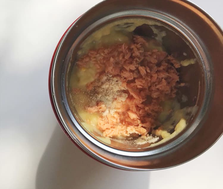 鮭入りコーンスープ