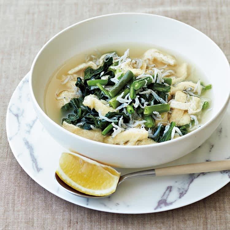 食べ痩せ美容液スープ/しらすと油揚げのうるおいアップスープ
