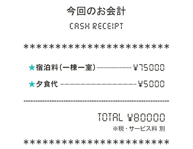 今回のお会計
