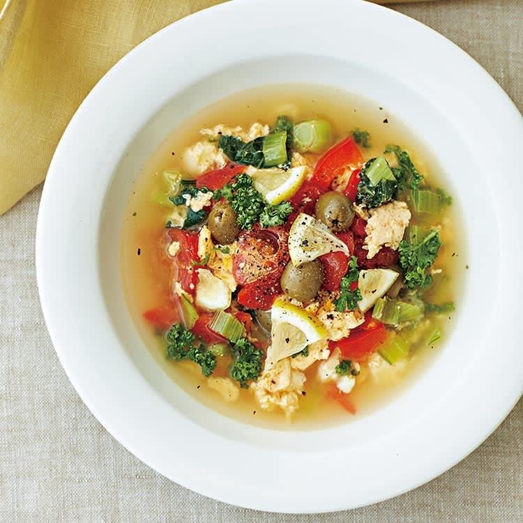 食べ痩せ美容液スープ/トマトエッグの美白スープ