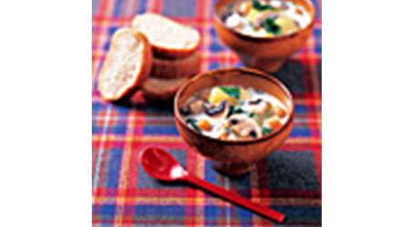 マッシュルームとセロリのクリームスープ
