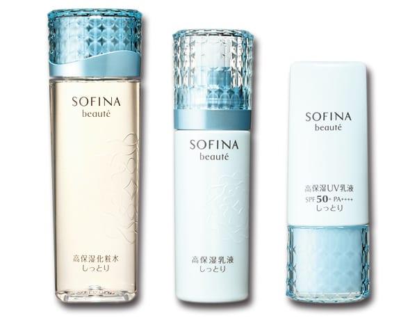 花王ソフィーナ,ソフィーナボーテ,高保湿化粧水 しっとり,高保湿乳液 しっとり,高保湿UV 乳液 しっとり