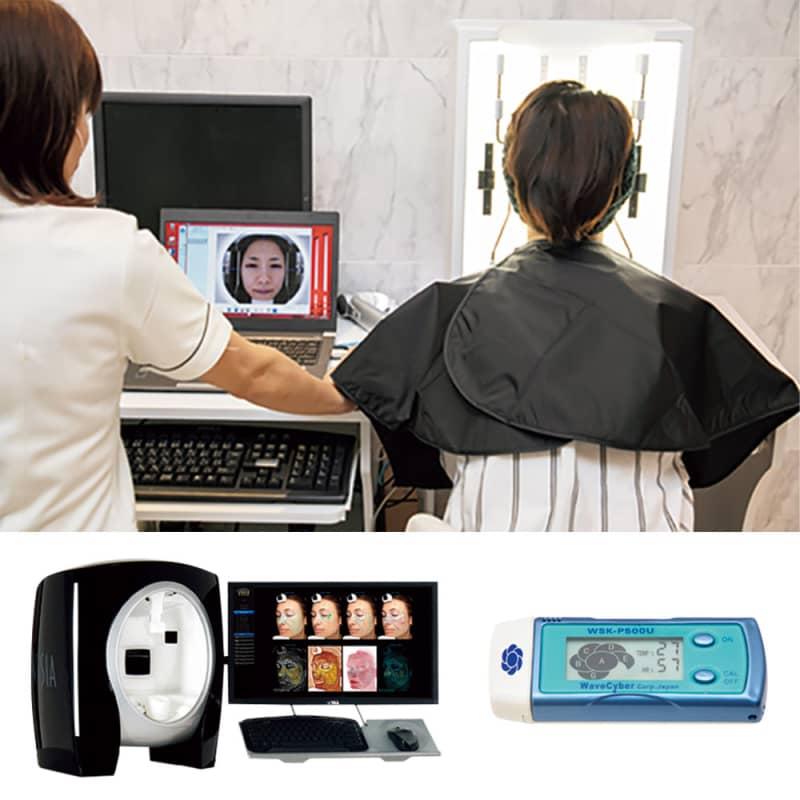 画像解析マシンで肌を詳細に撮影