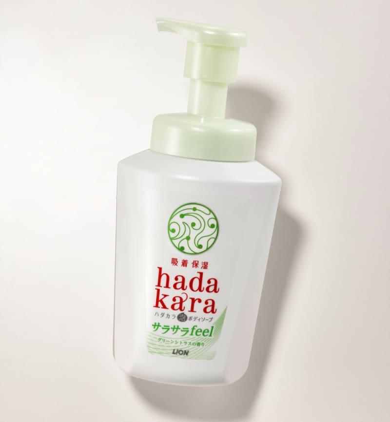 hadakara 泡ボディソープ サラサラfeelタイプ グリーンシトラスの香り