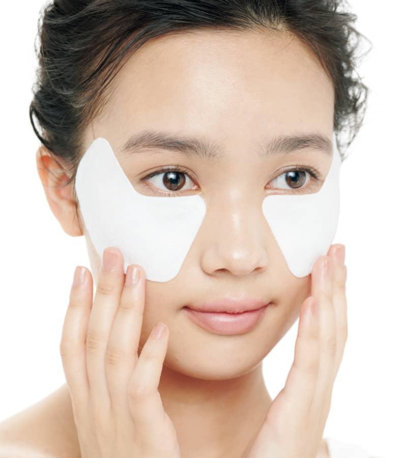 アイクリームこってり塗りの上から目元用マスク