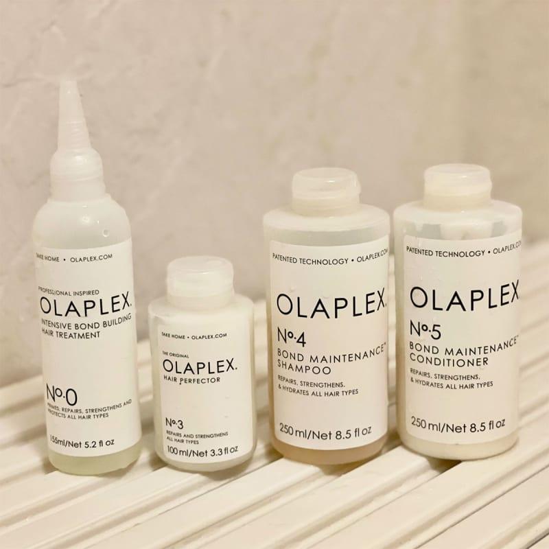 (左から)OLAPLEX No.0 インテンシブボンドビルディングヘアトリートメント
