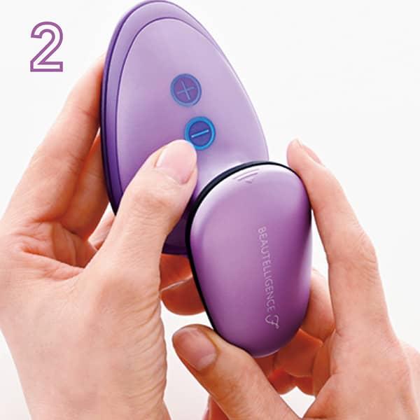 2.ー(マイナス)のボタンを押してスイッチオン。