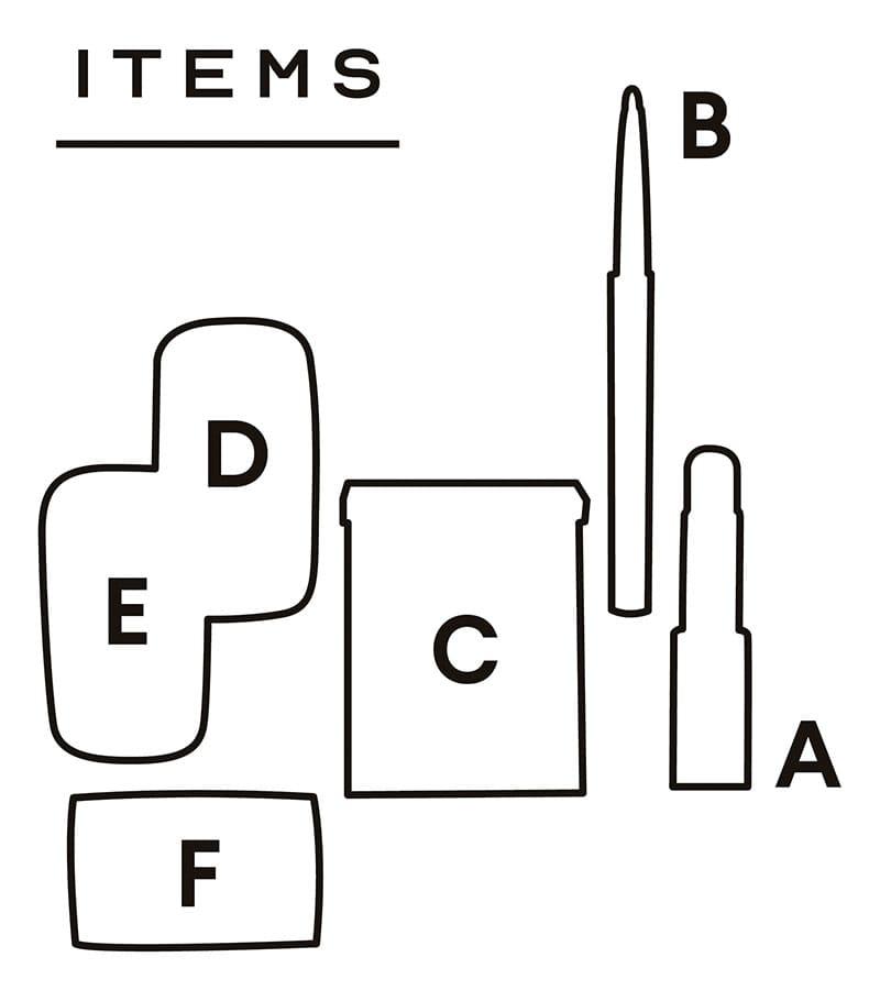 ITEMS配置図【LOOK 01】