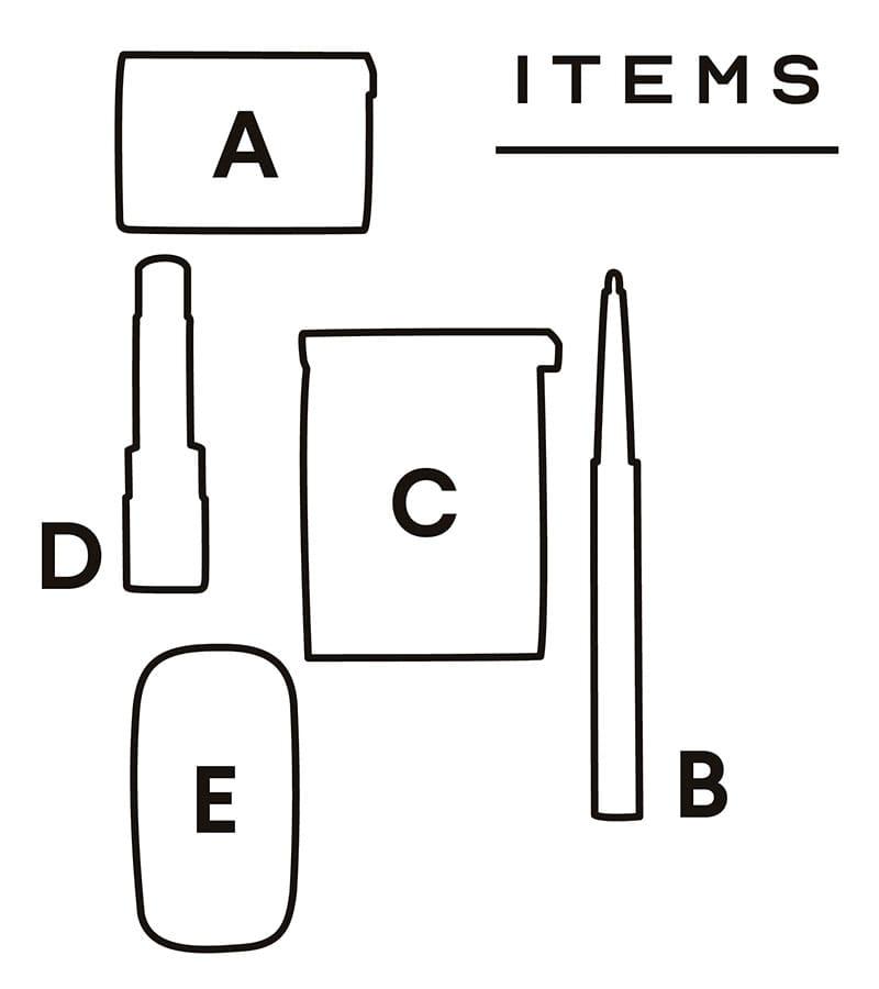 ITEMS配置図【LOOK 02】