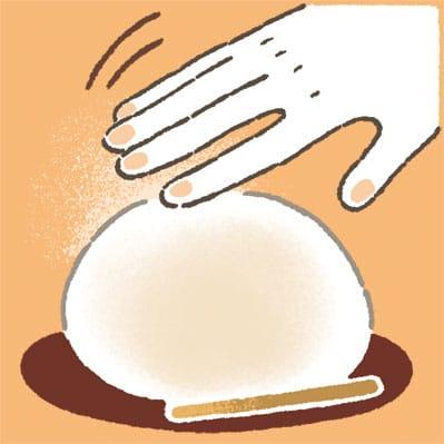 「大福の白い粉」をそっと払う、それぐらいの優しさを心がけて