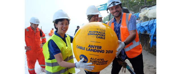 Australia Singapore Cable Landed at Anyer, Indonesia