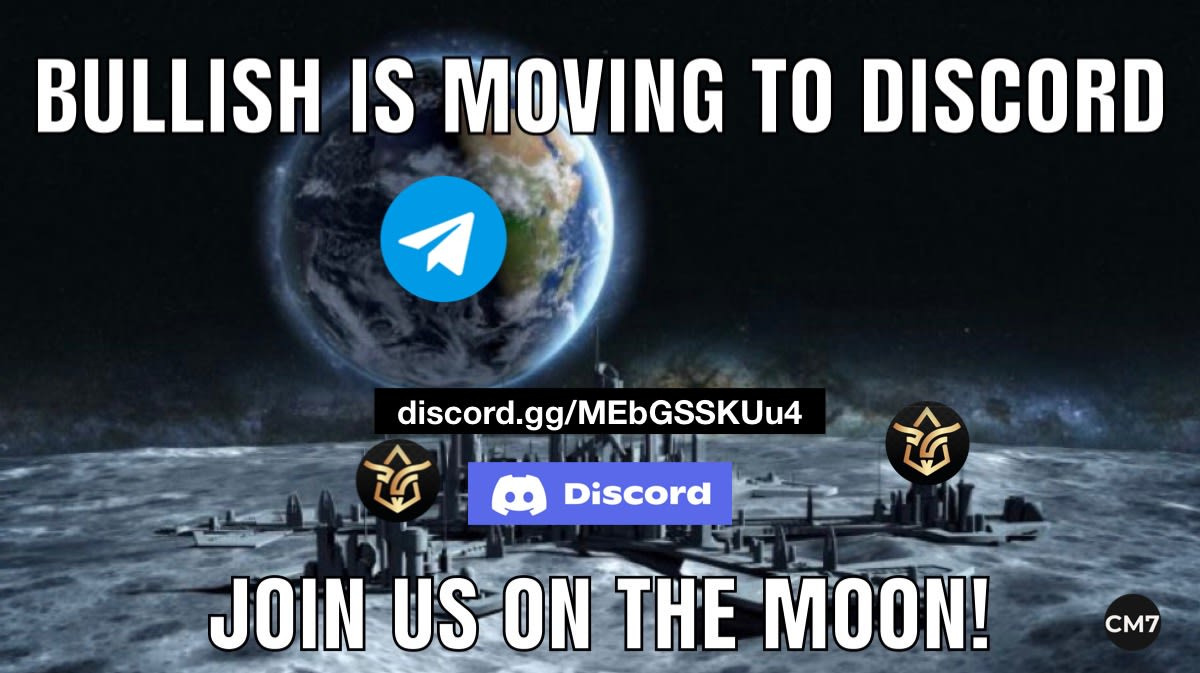 Bullish is moving to discord