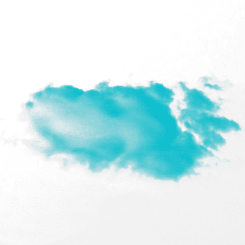 Blue clouds on a white sky