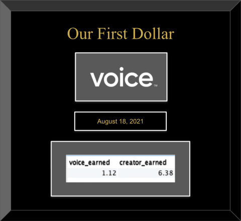 Voice: Our First Dollar
