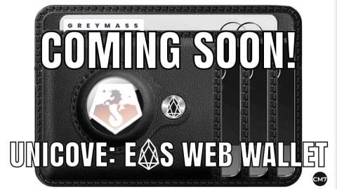 Unicove: EOS Web Wallet