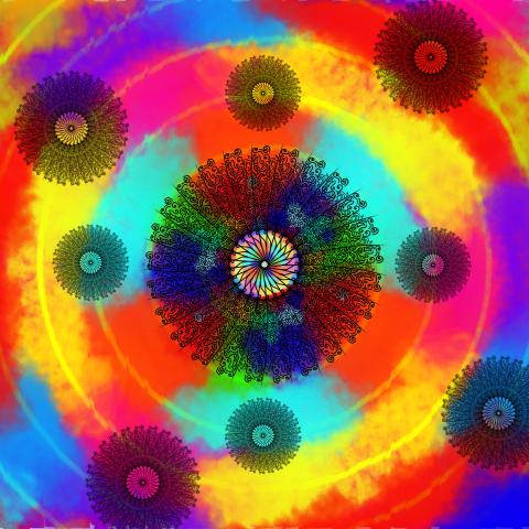 Mandala of the burning dream