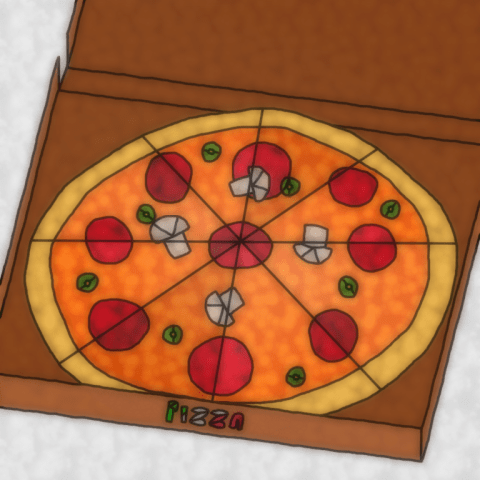 Stained Glass Style Pizza
