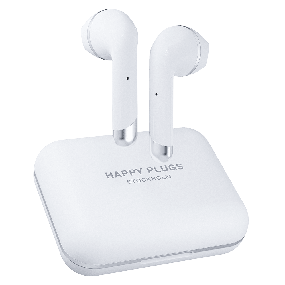 Wholesale cell phone accessory Happy Plugs - Air 1 Plus Earbud Headphones - White