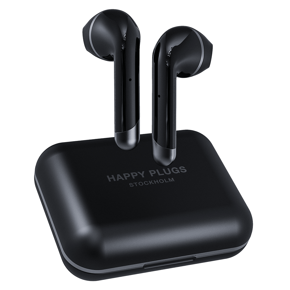 Wholesale cell phone accessory Happy Plugs - Air 1 Plus Earbud Headphones - Black