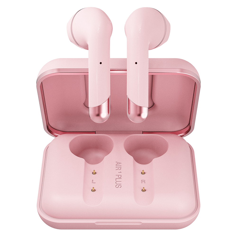 Wholesale cell phone accessory Happy Plugs - Air 1 Plus Earbud Headphones - Pink Gold
