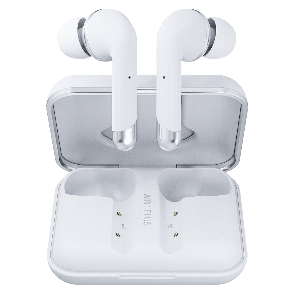 Wholesale cell phone accessory Happy Plugs - Air 1 Plus In Ear Headphones - White