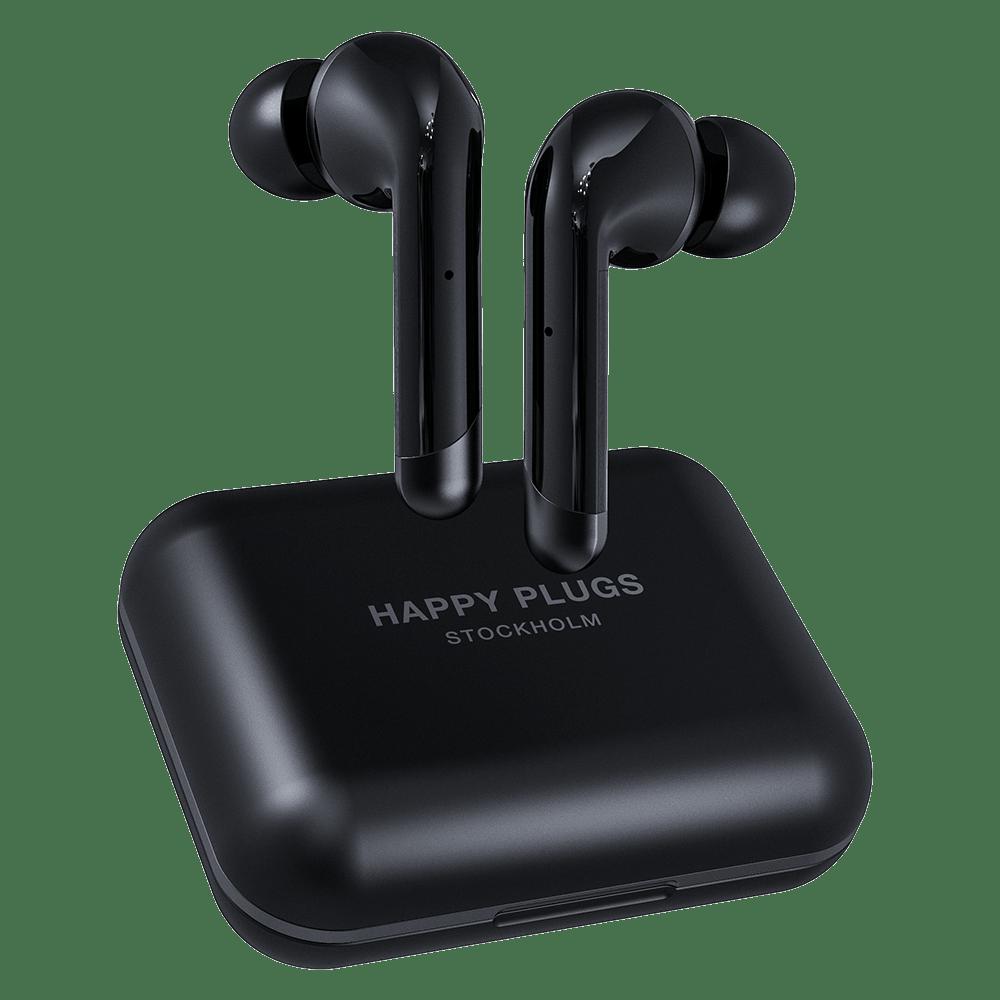 Wholesale cell phone accessory Happy Plugs - Air 1 Plus In Ear Headphones - Black