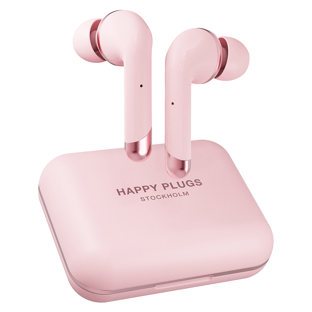 Wholesale cell phone accessory Happy Plugs - Air 1 Plus In Ear Headphones - Pink Gold