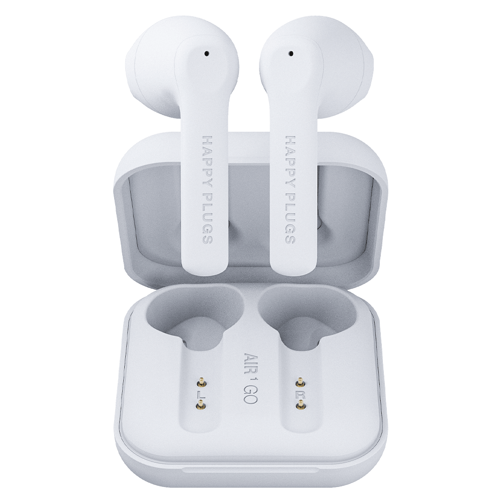 Wholesale cell phone accessory Happy Plugs - Air 1 Go Earbud Headphones - White