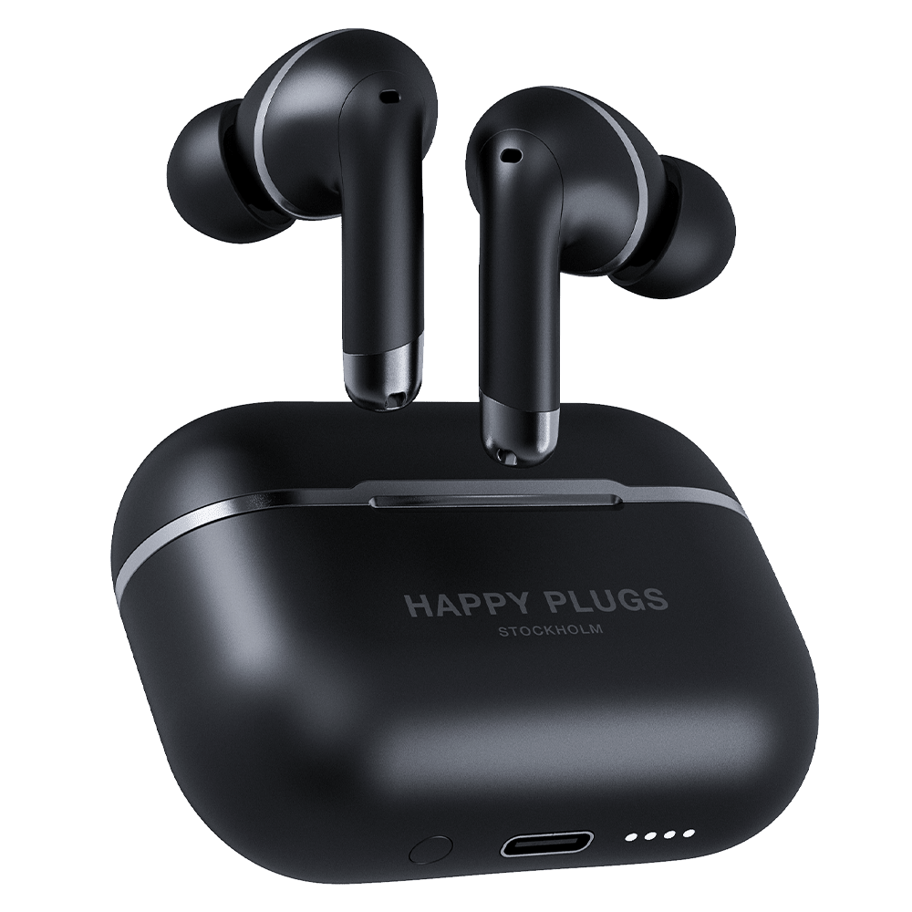Wholesale cell phone accessory Happy Plugs - Air 1 ANC In Ear Headphones - Black